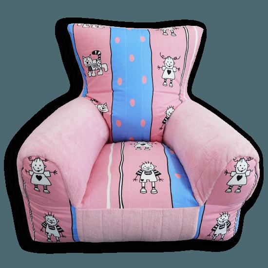 gyerkőcök kékes-rózsaszínes gyerekfotel