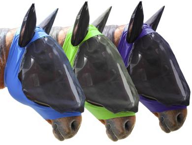 Fül és fejvédő háló lovaknak