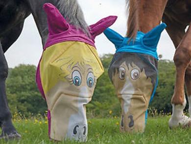 Vicces fül és fejvédő háló lovaknak